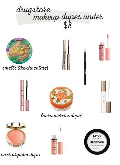 Drugstore Makeup Dupes under $8