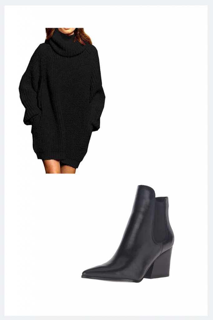 amazon sweater dress thanksgiving outfit