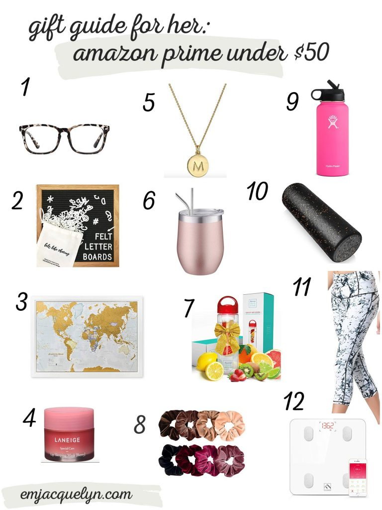 gift guide for her amazon prime under $50