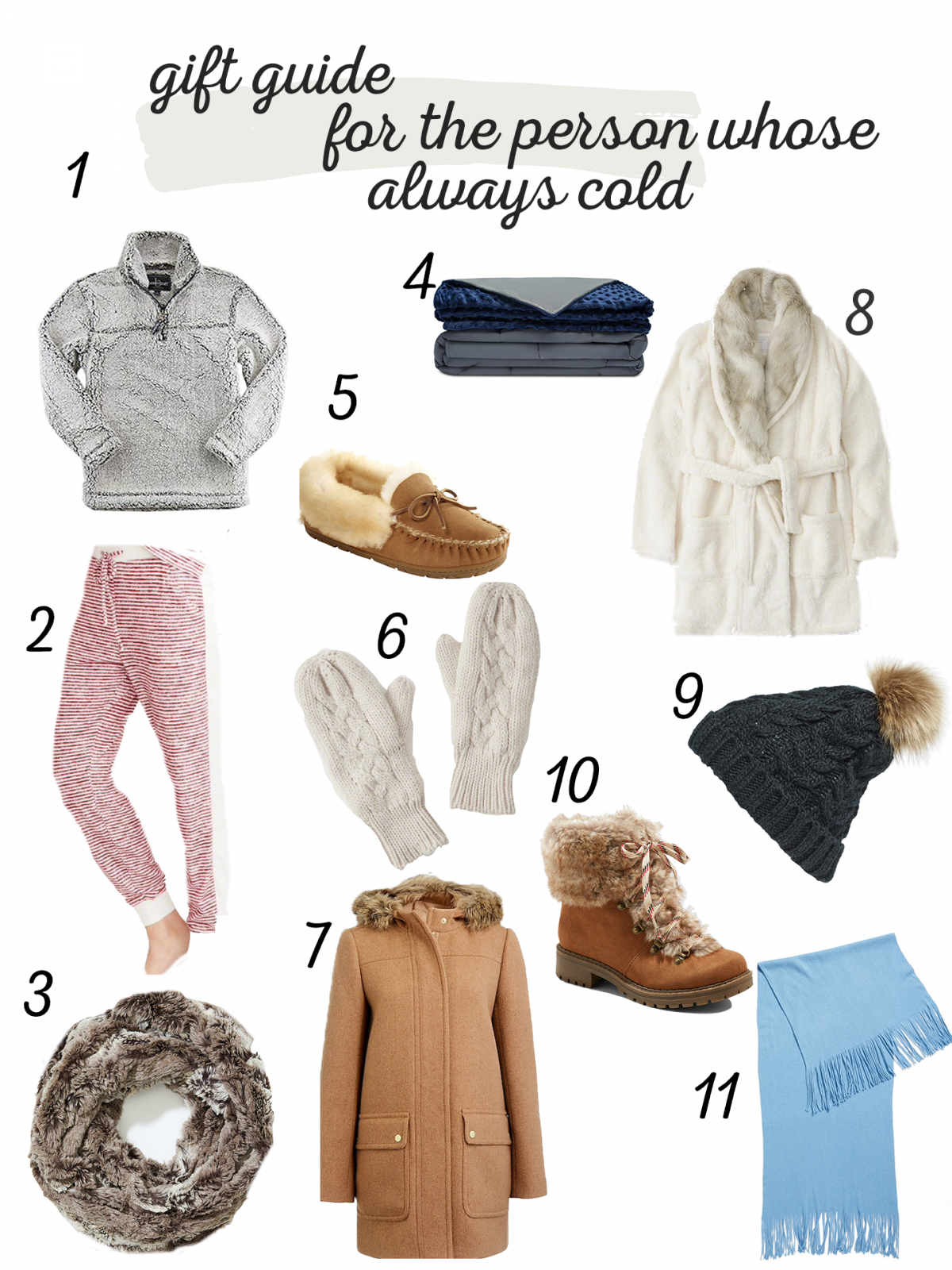 gift ideas for the person whose always cold