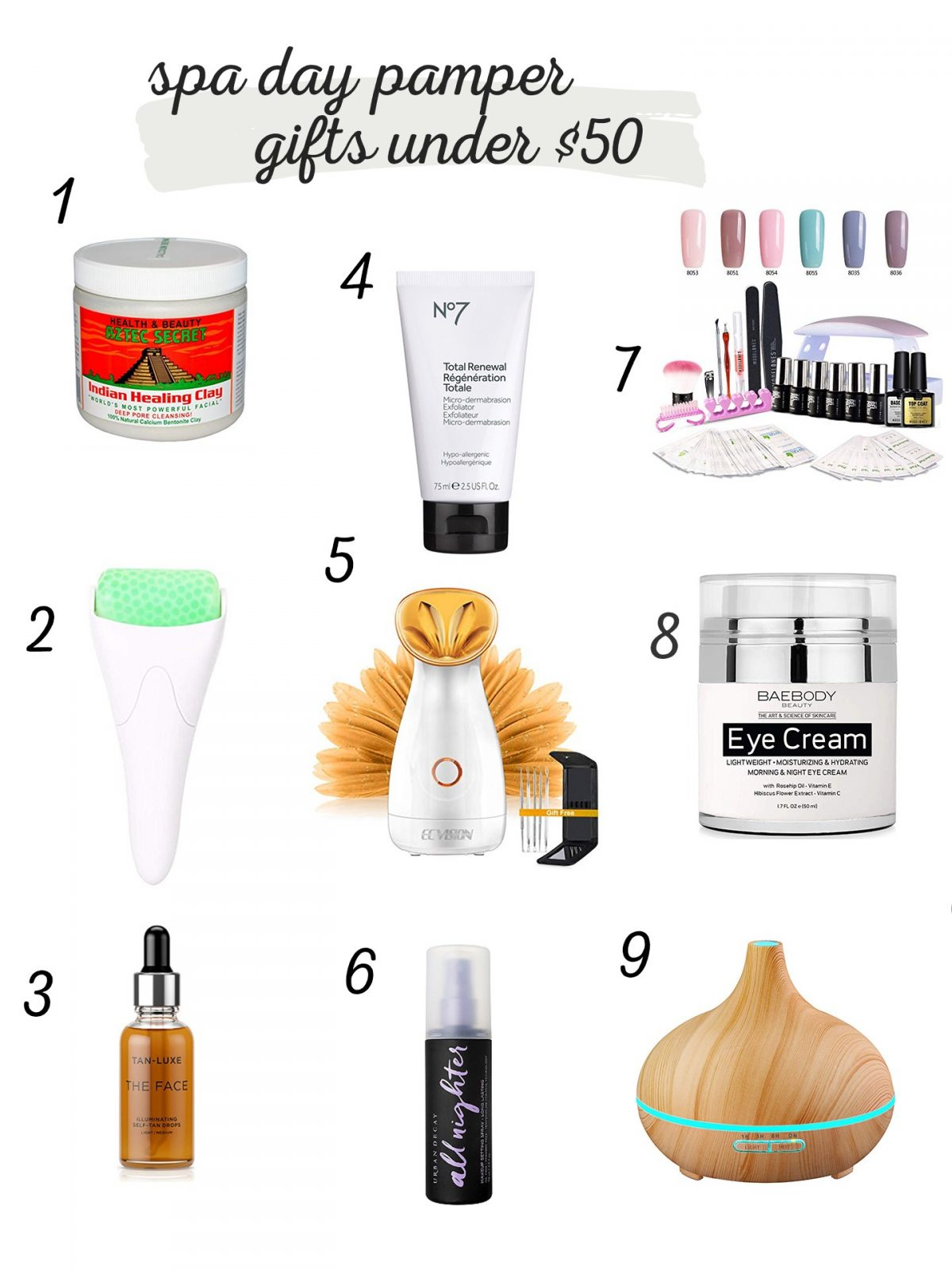 spa day gift ideas under 50