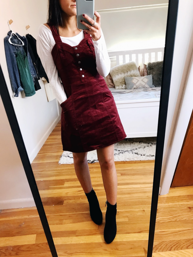 couduroy dress holiday looks