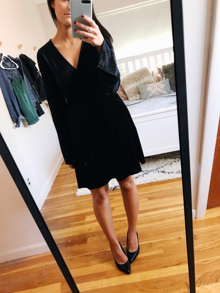 holiday looks velvet dress