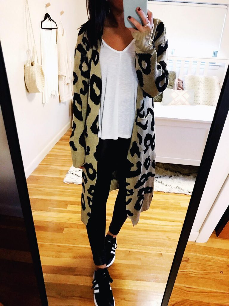 casual outfits leopard cardigan amazon best sellers