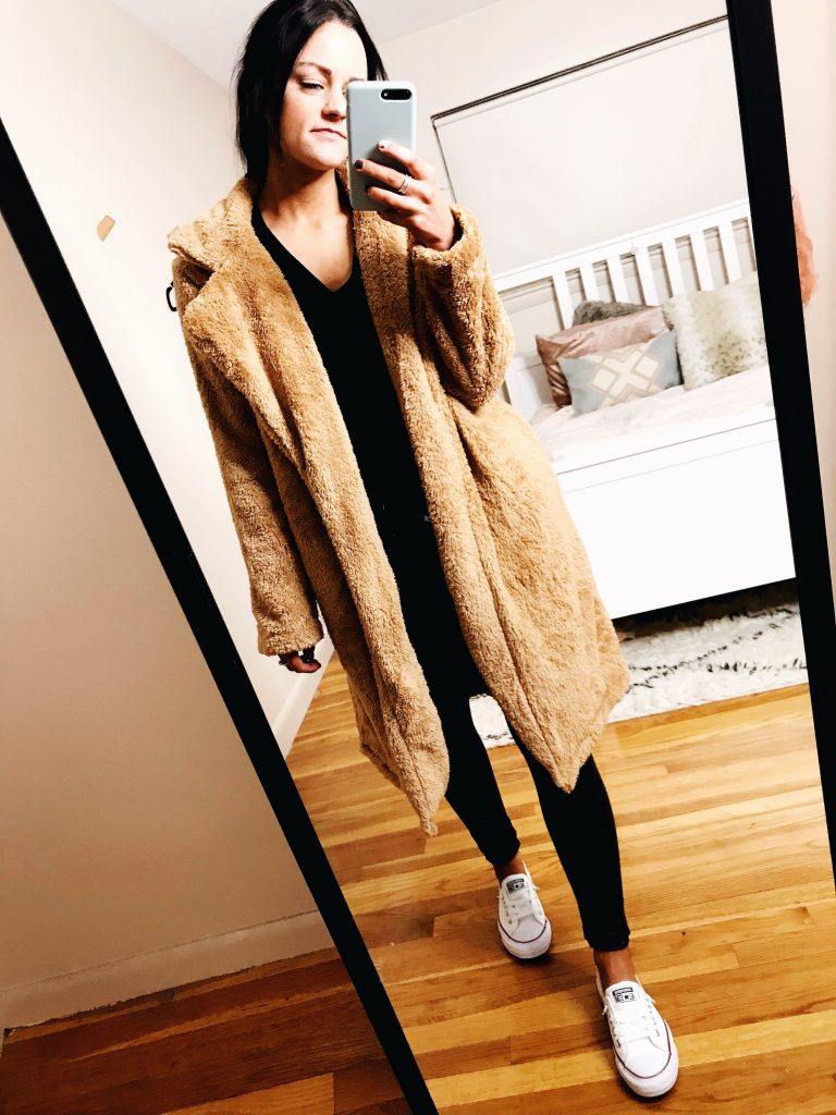 teddy coat - casual outfits