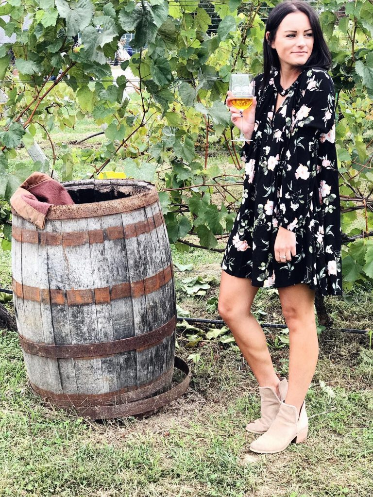 wine tasting outfit free people dupe dress from amazon