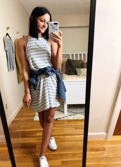 spring wardrobe basics & aerie try on