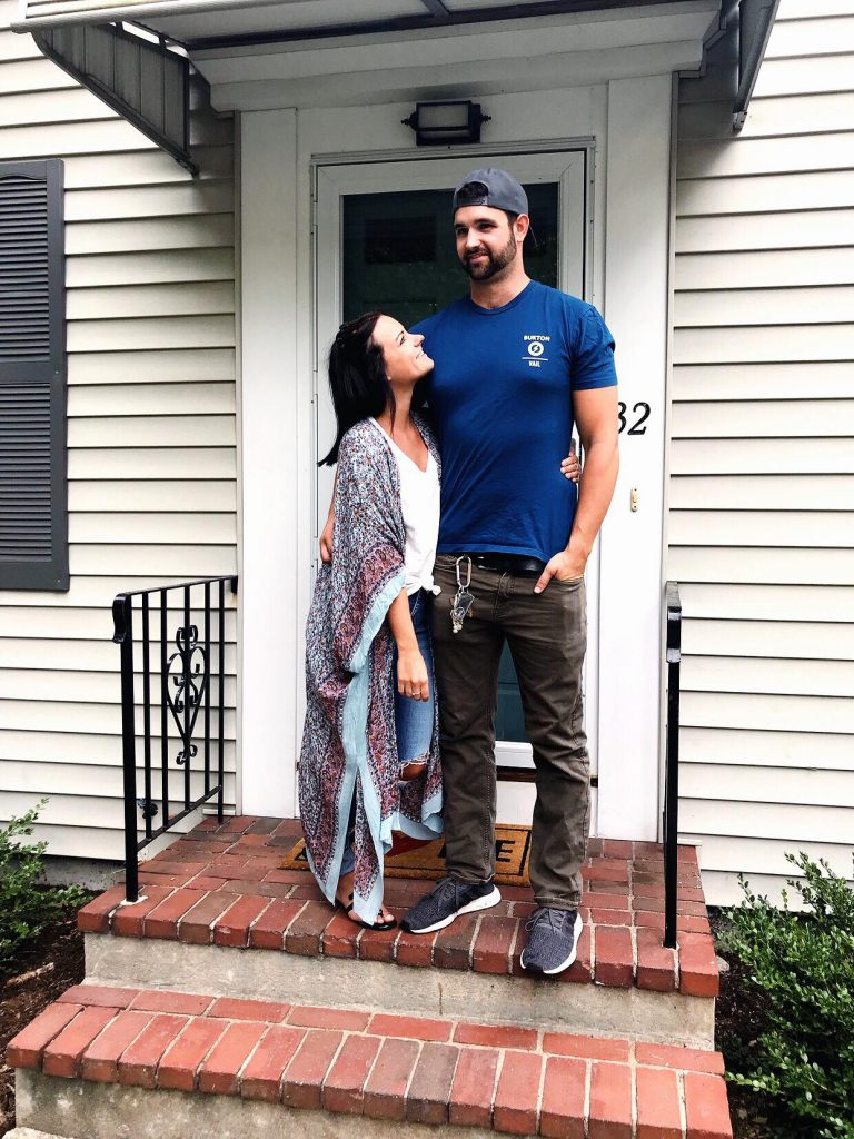 couple that just bought first house