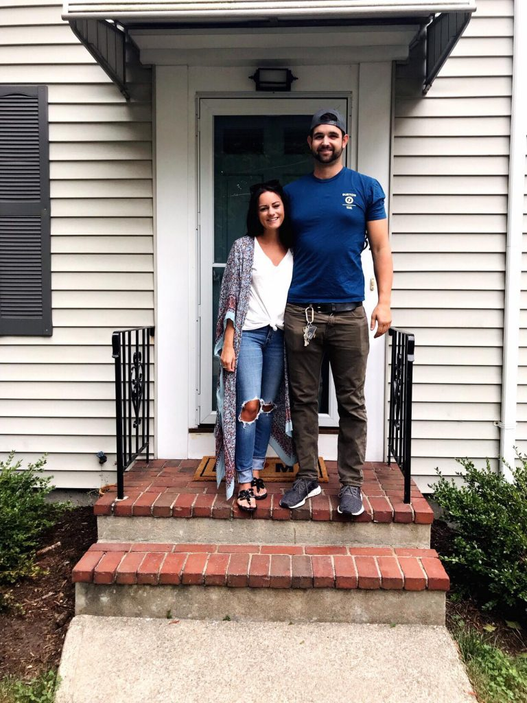 couple buying first home