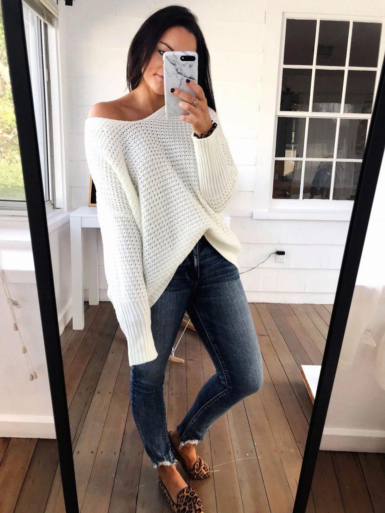 oversized cream sweater from amazon prime