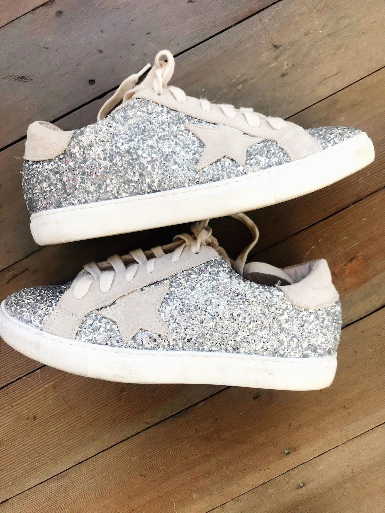 sparkly graydesigner inspired lookalikes sneakers from amazon prime