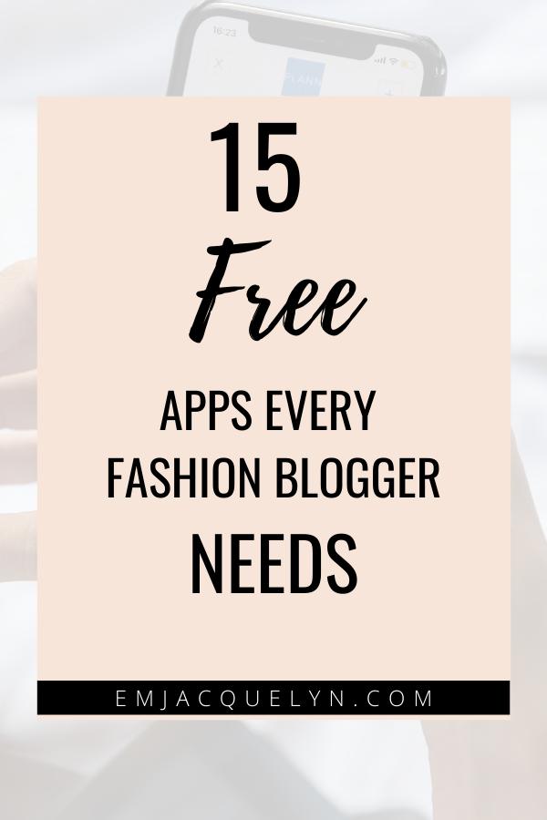 fashion blogger apps