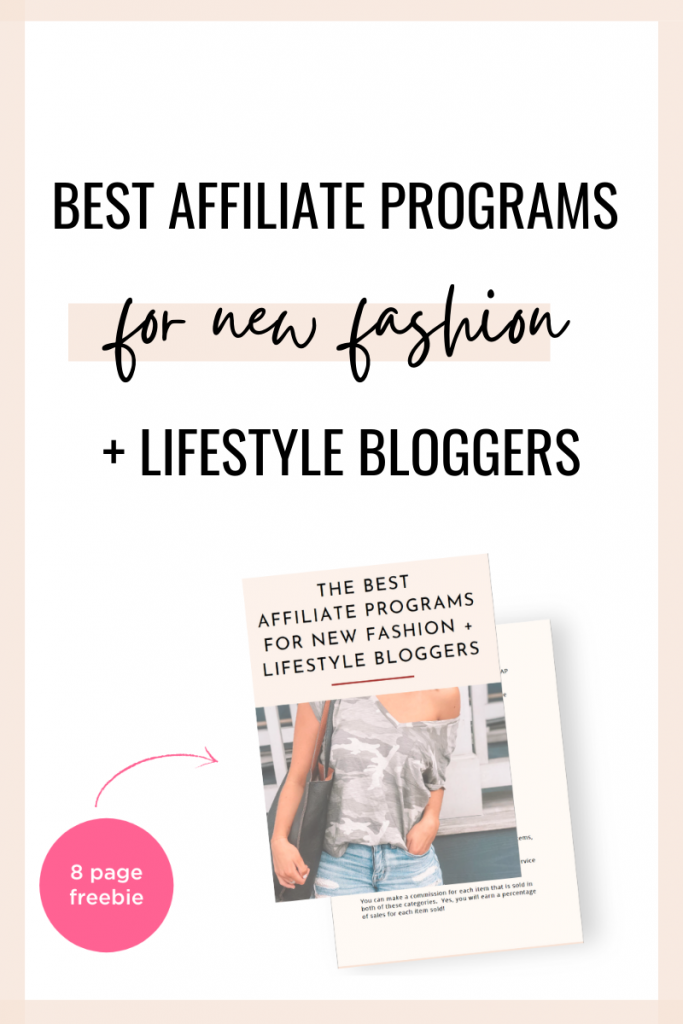best affiliate programs for new fashion bloggers