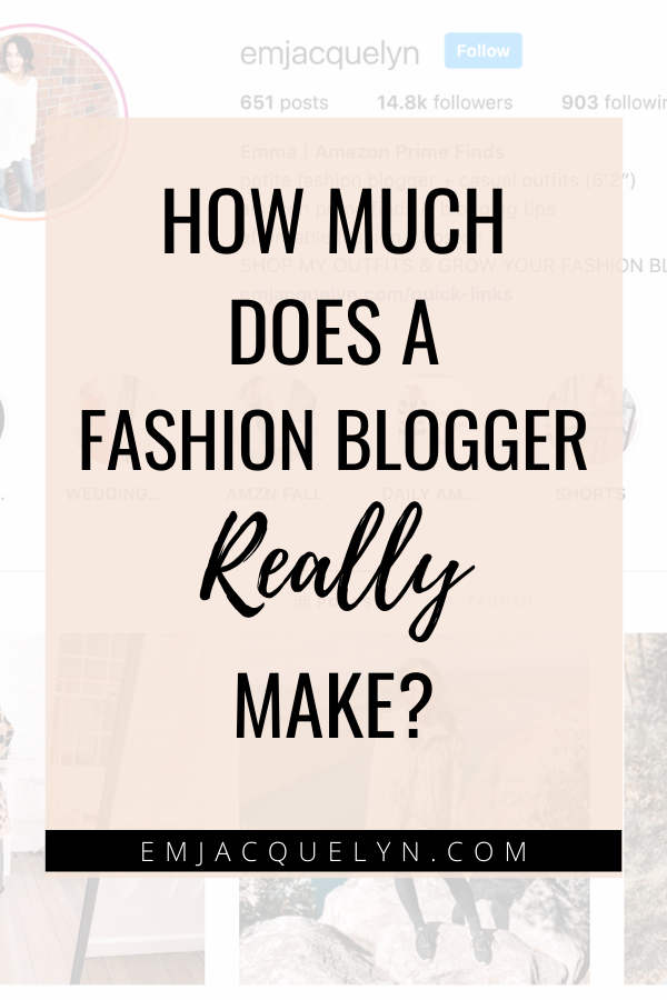 how much does a fashion blogger make
