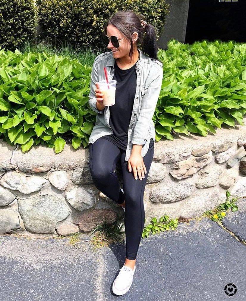 amazon leggings casual fall outfit