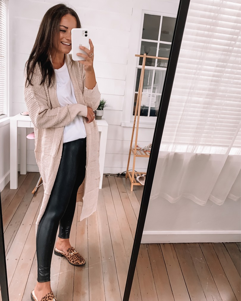 amazon cardigan leggings outfit for fall