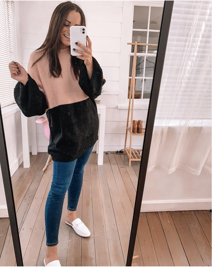amazon oversized sweater outfit with jeans