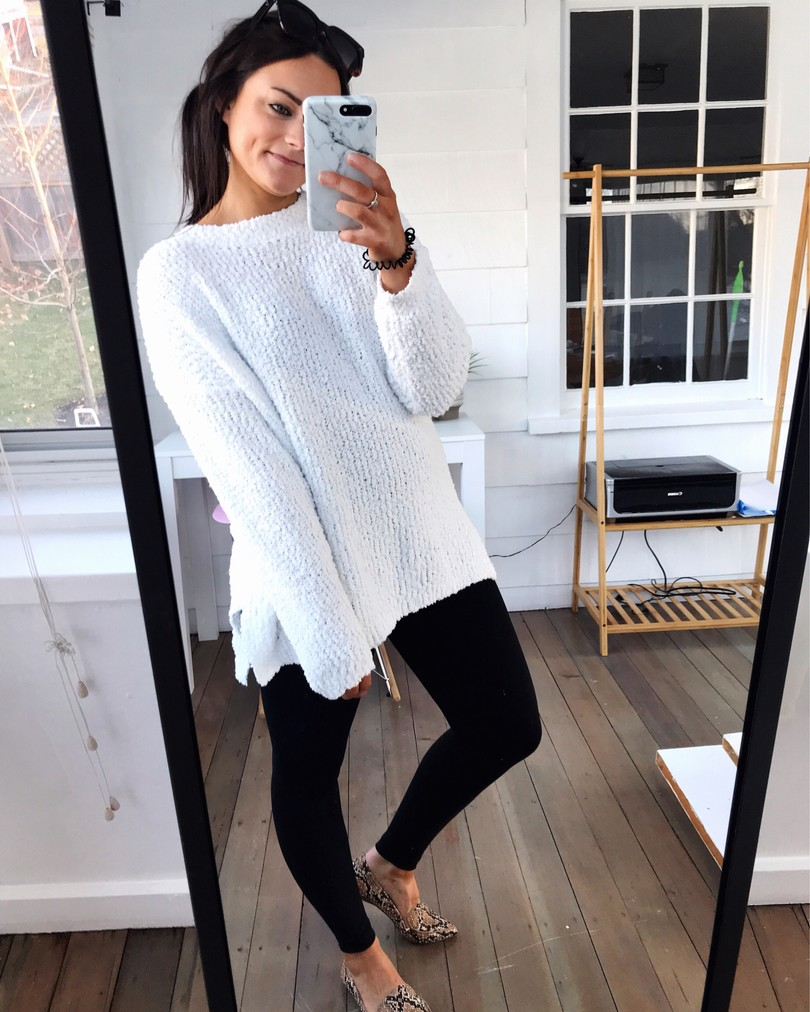 amazon prime popcorn sweater outfit