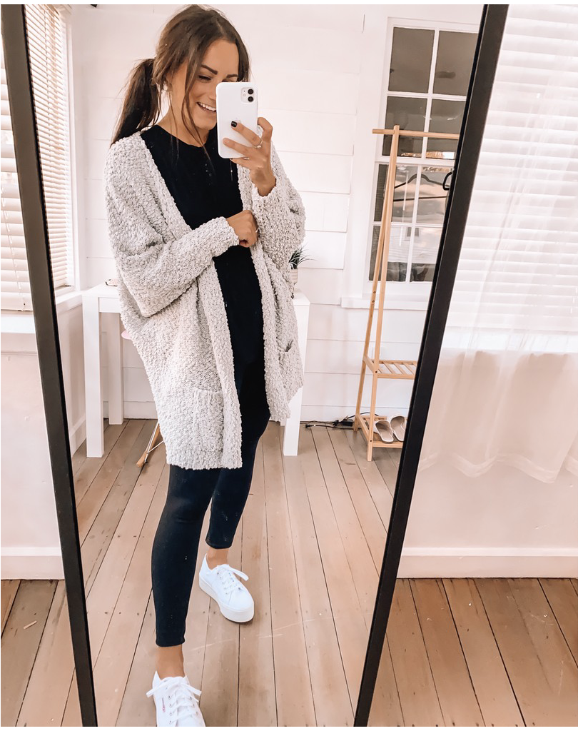 casual amazon sweater cardigan outfit
