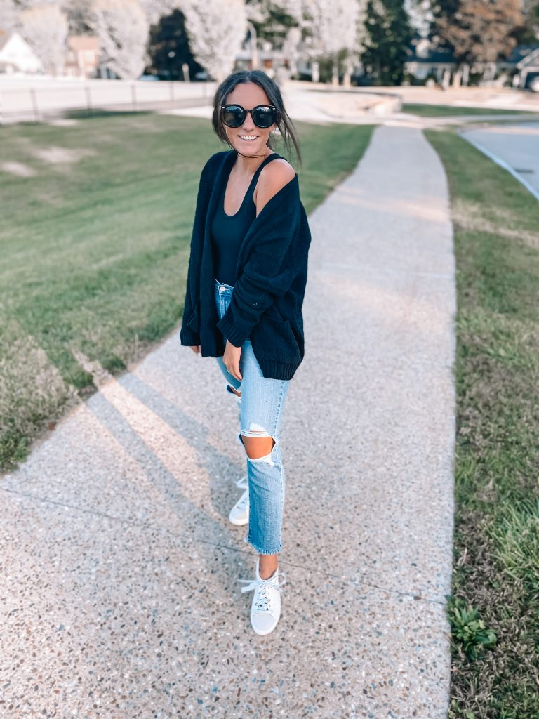cute jeans outfit golden goose dupe sneakers