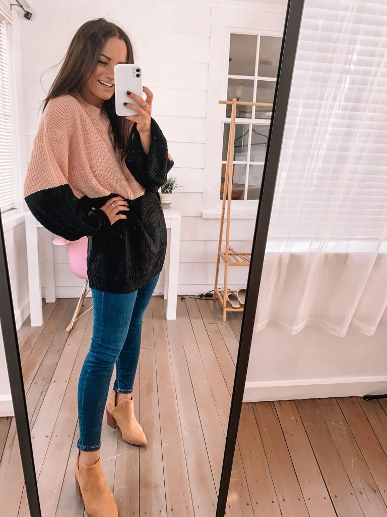 fall cute booties outfit