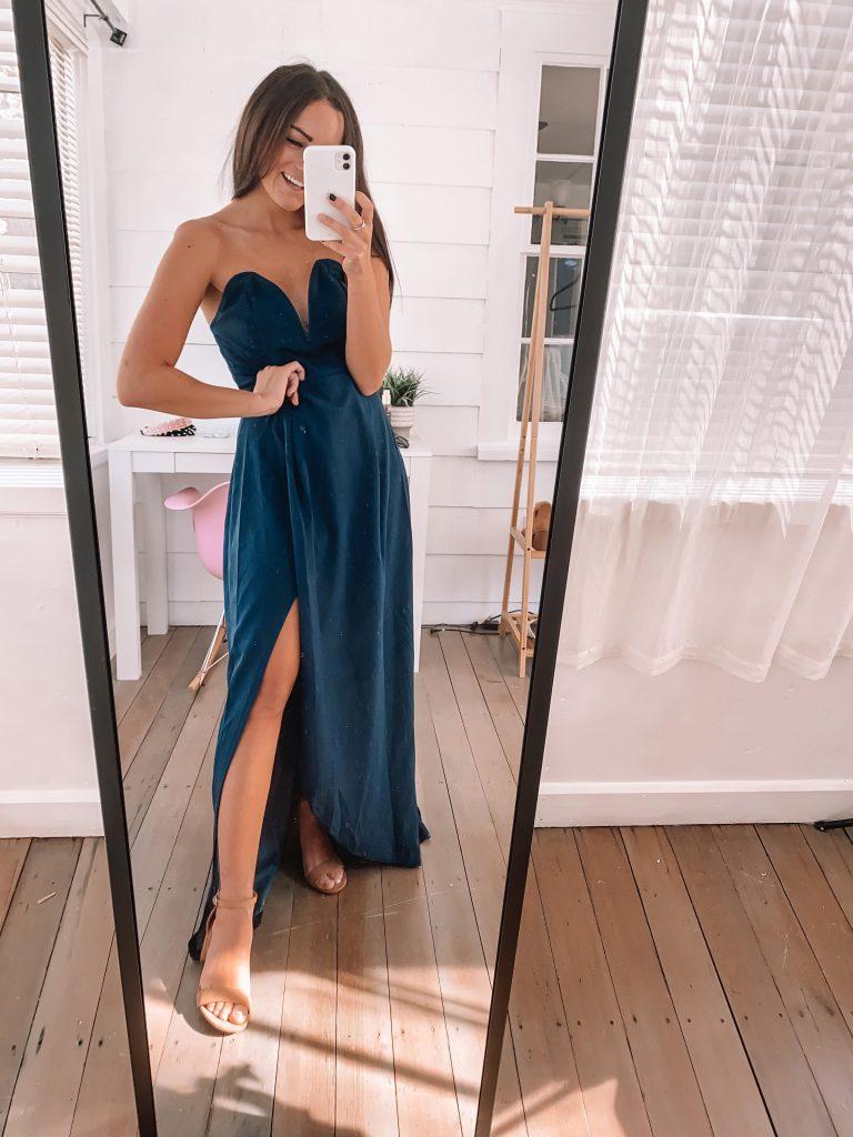 navy maxi dress for amazon fall wedding
