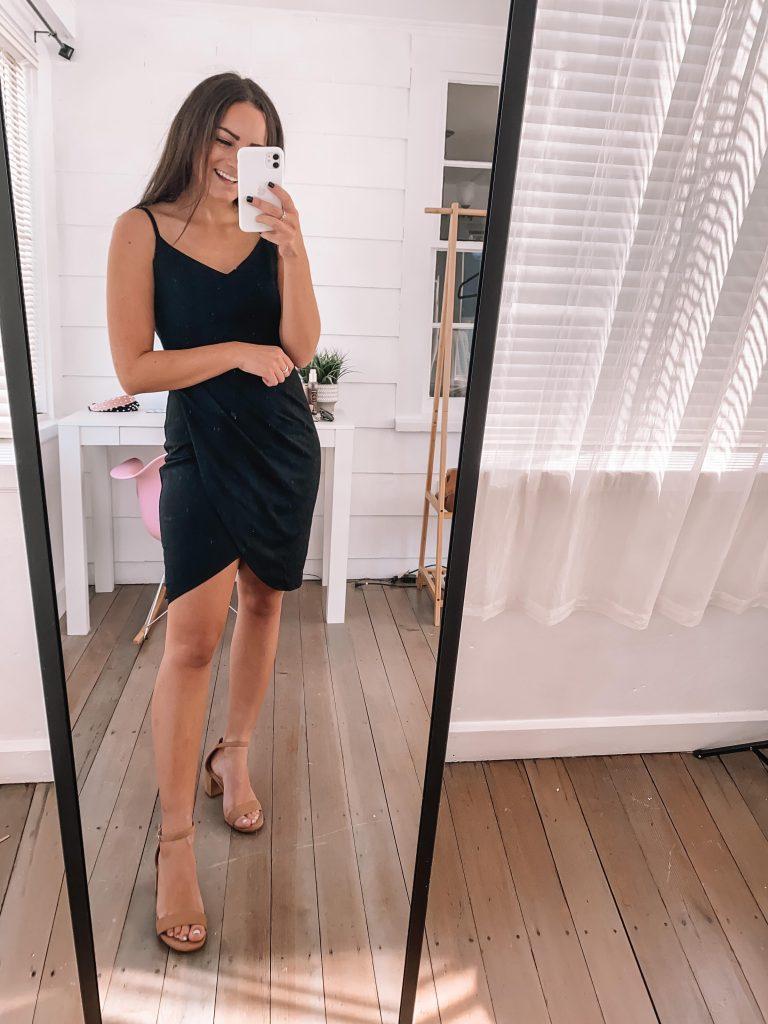 black affordable wedding guest dress amazon