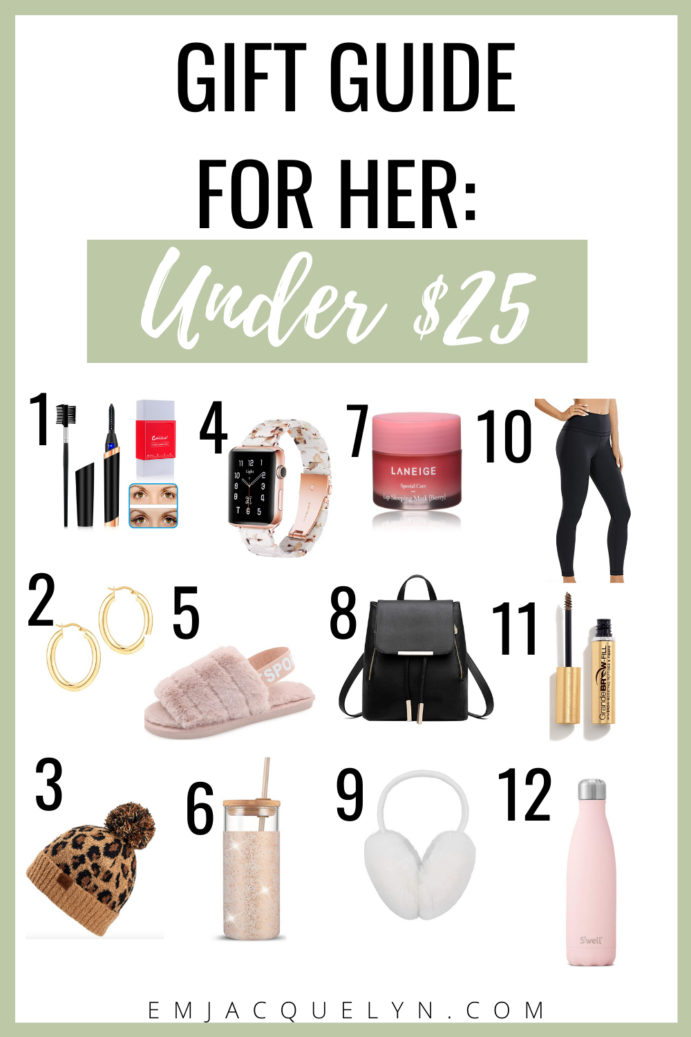 holiday gift guide for her under 25