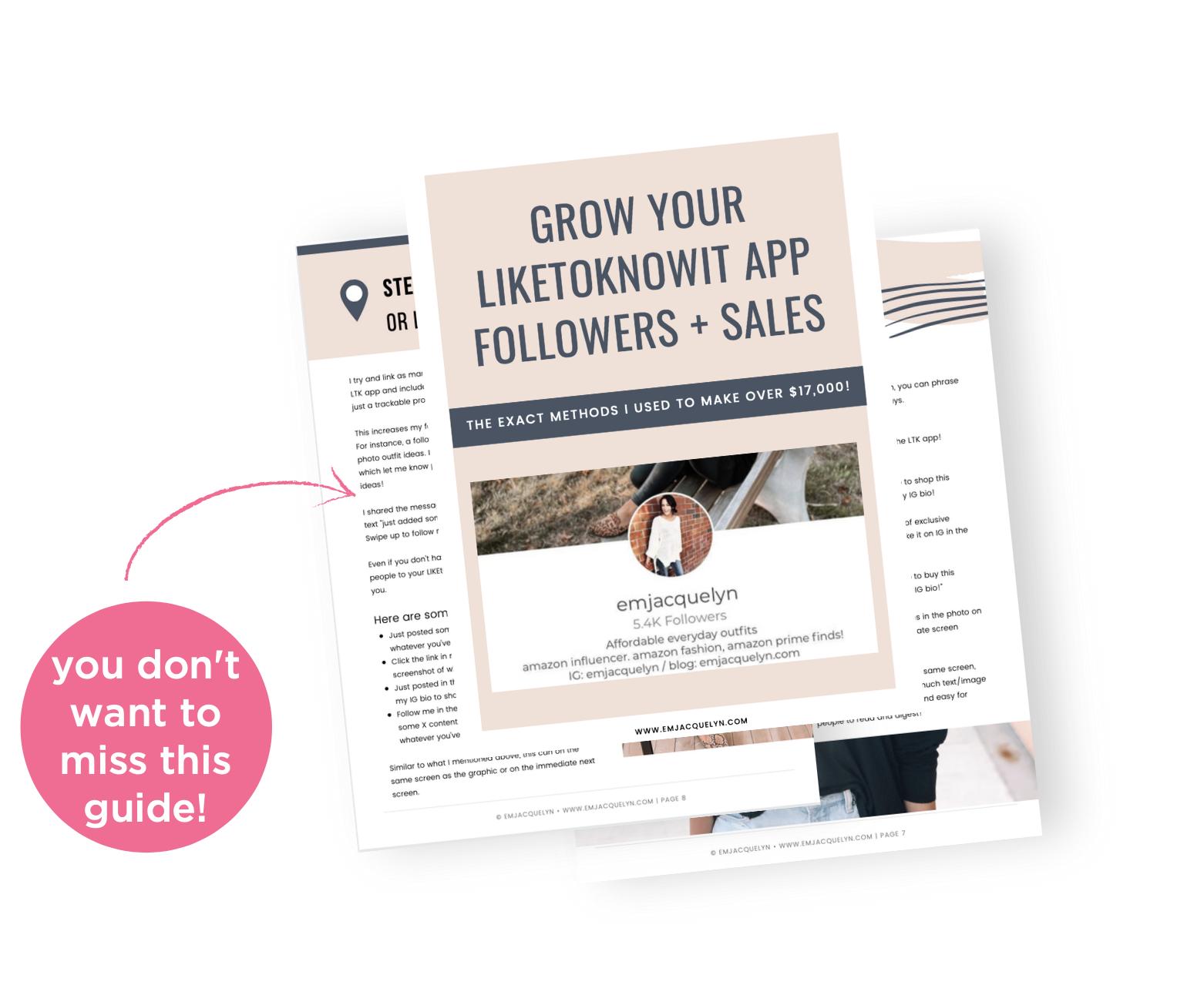 grow your liketoknowit sales