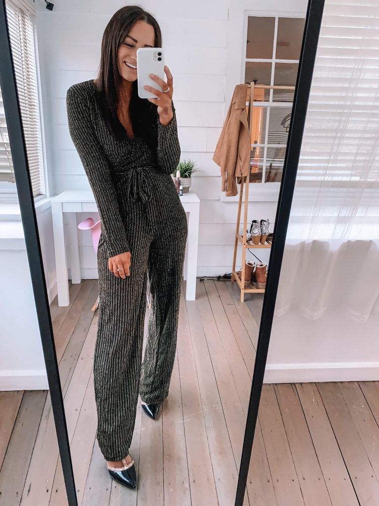 holiday party and winter wedding jumpsuit from amazon