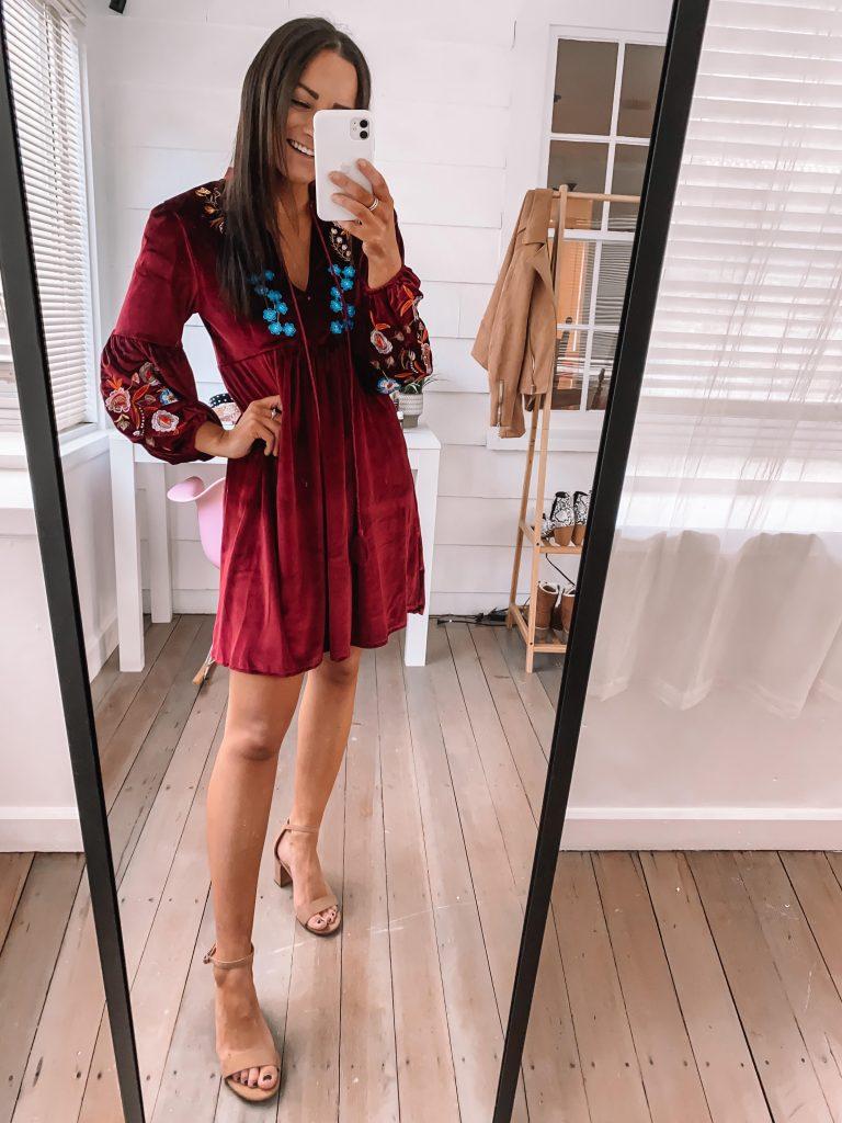 Amazon Wedding Guest Dresses for Winter velvet dress