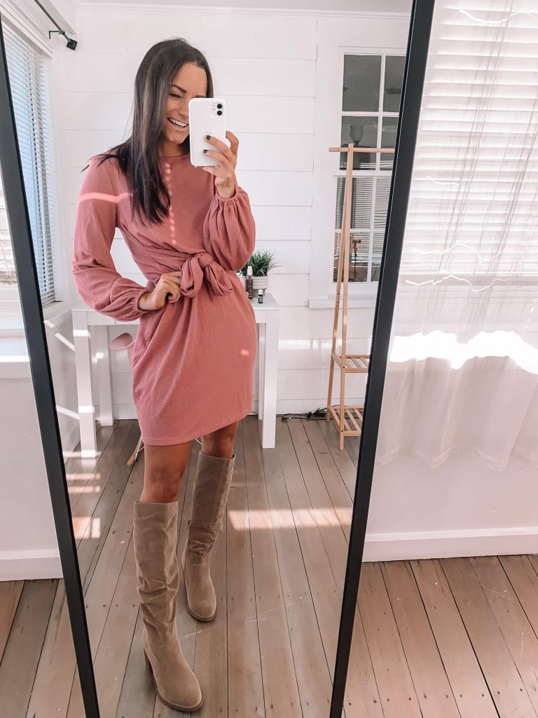 Cute thanksgiving outfits amazon pink dress