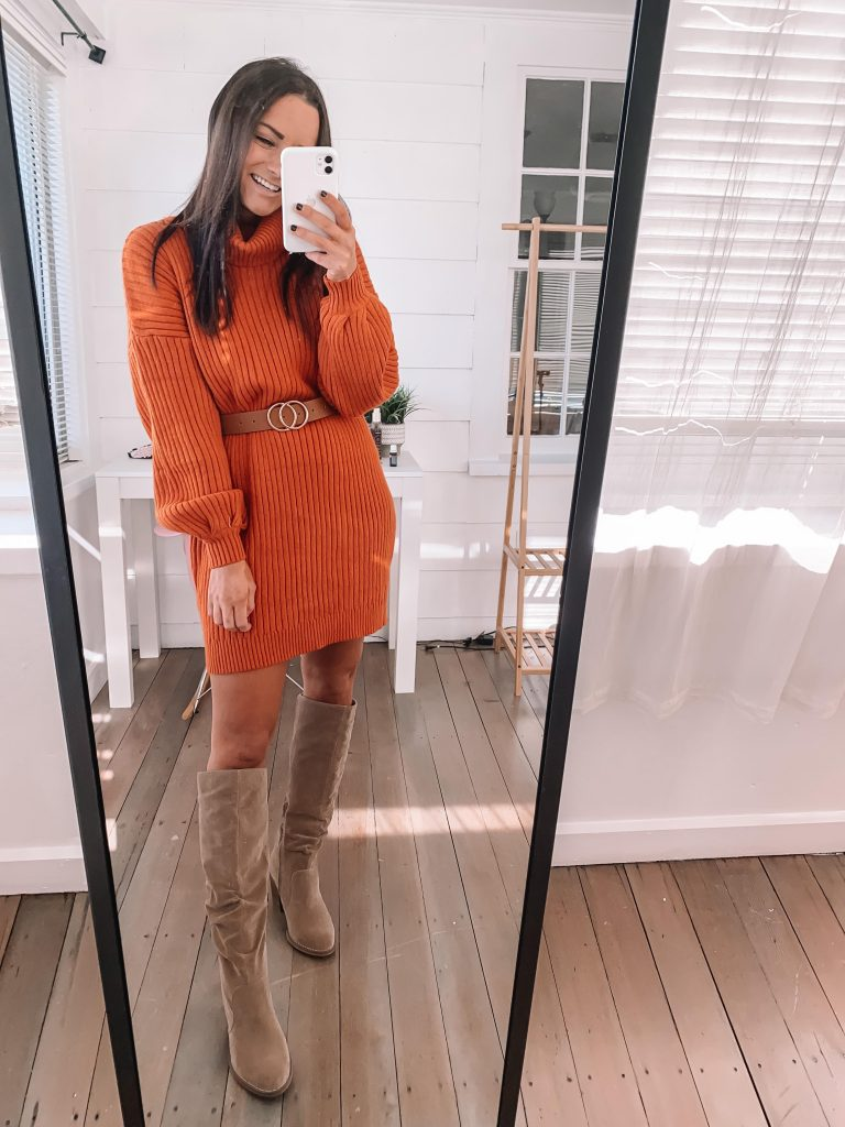 Cute thanksgiving outfits amazon sweater dress