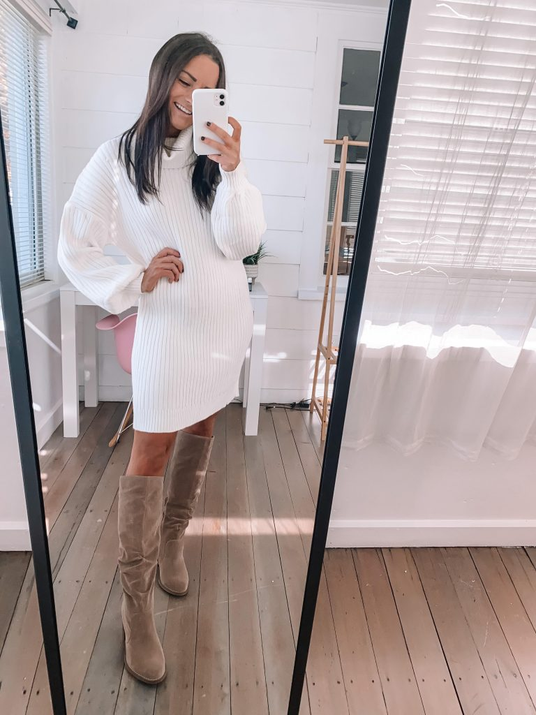 Cute thanksgiving outfits amazon white sweater dress