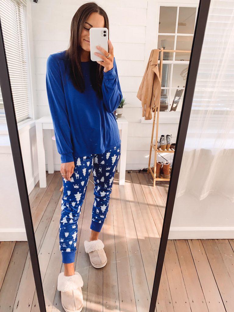 blue amazon family Christmas pajamas