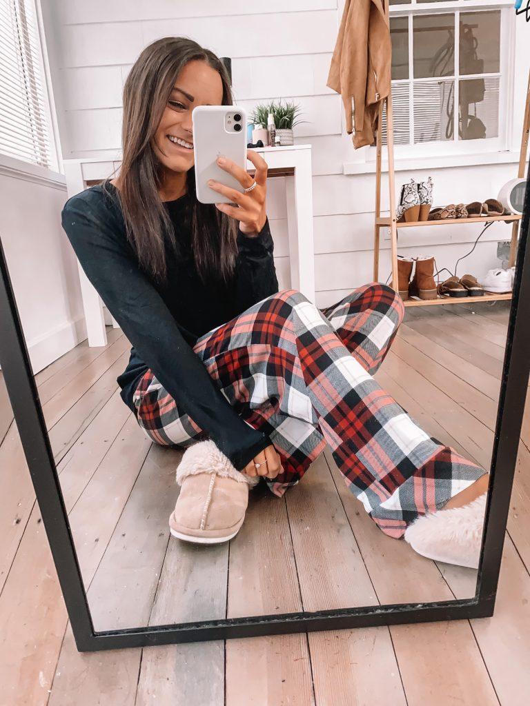 amazon plaid pajamas for her Christmas