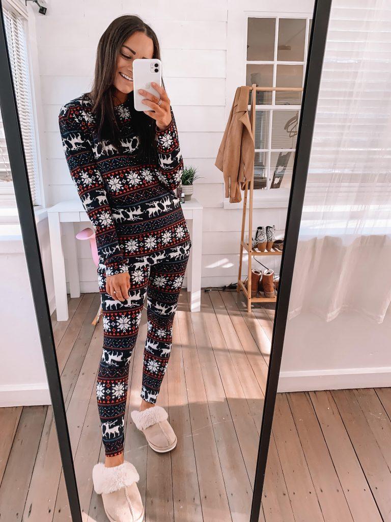 fleece lined amazon christmas pajamas