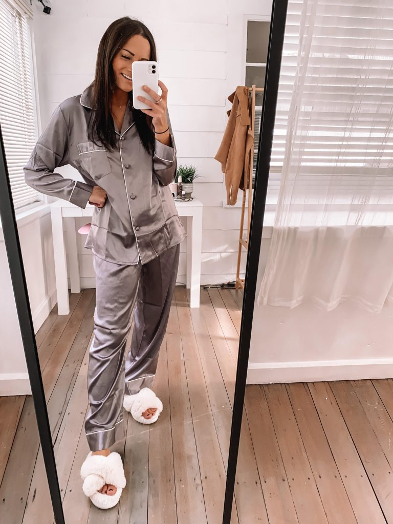 amazon silk pajamas set