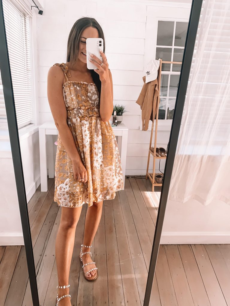 amazon flower dress spring summer outfit