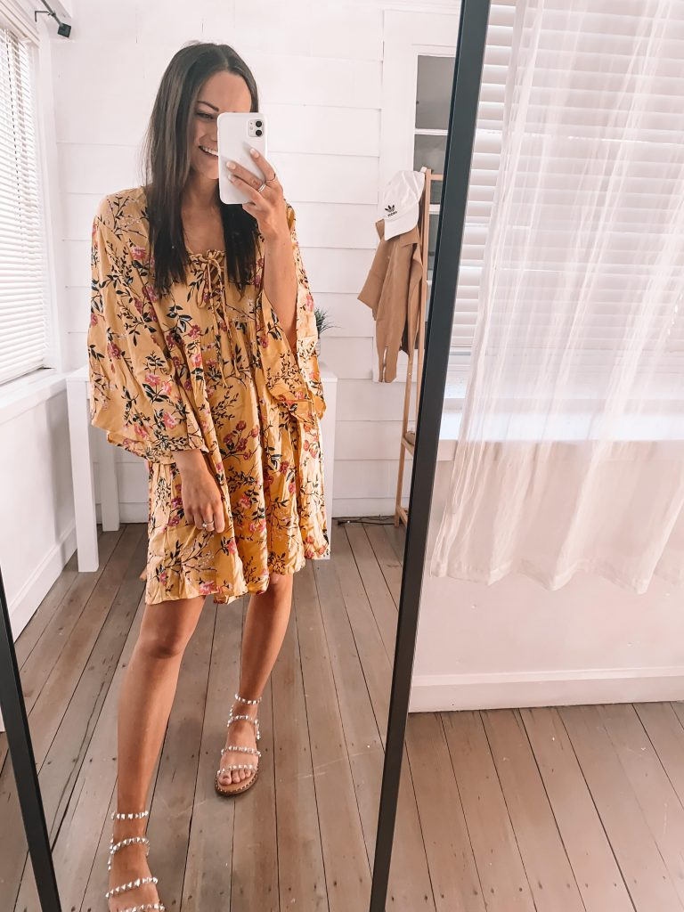 amazon flows dress spring outfit